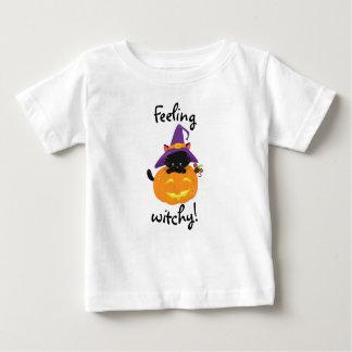 Gefühl Witchy Katzen-Baby-T - Shirt