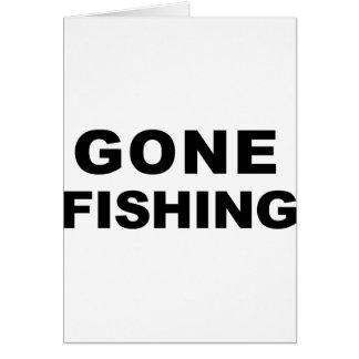 Gegangene Fischerei Grußkarte