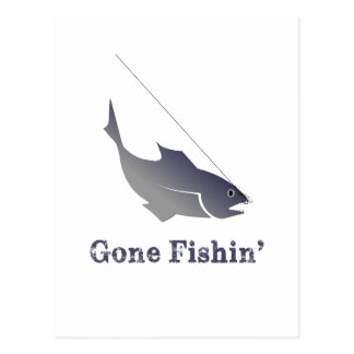 Gegangenes Fishin Postkarten