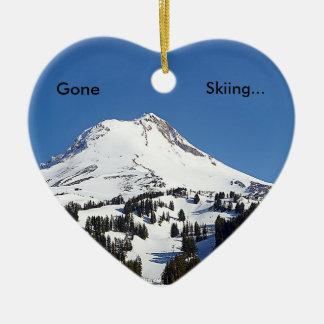 Gegangenes Ski fahren… Keramik Ornament