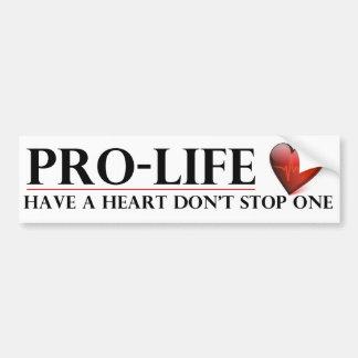 Gegen die Abtreibung haben Sie ein Herz stoppen Autoaufkleber