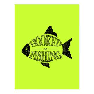 Gehakt auf Fischen, entwerfen Spaßfische, alle Postkarten