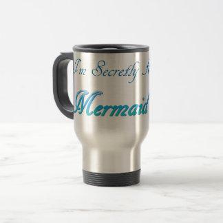 Geheim eine Meerjungfrau-Reise-Tasse Reisebecher