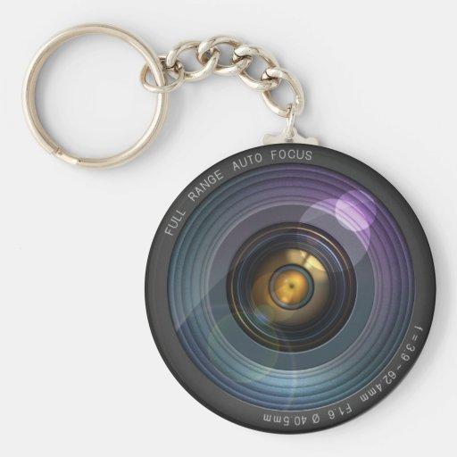 Geheimnis versteckte Kameraobjektivillusion Schlüsselbänder