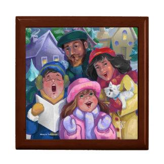 Gehen eine Caroling Illustration Geschenkbox