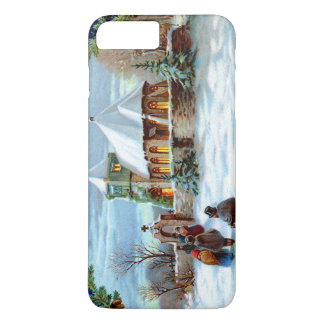 Gehen Kirchen-zum immergrünen Weihnachtsbaum iPhone 8 Plus/7 Plus Hülle