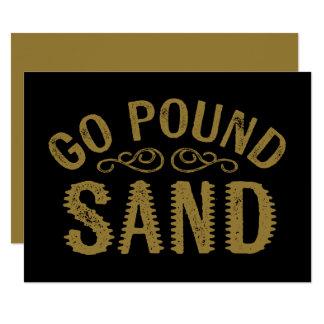 Gehen Pfund-Sand 14 X 19,5 Cm Einladungskarte