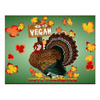 Gehen Sie vegan! Danksagungs-Postkarte Postkarte