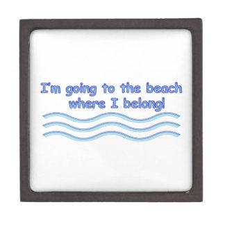 Gehen zum Strand Schachtel