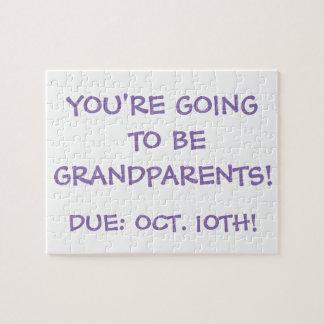 """""""Gehend, Großeltern zu sein!"""" Puzzlespiel Puzzle"""