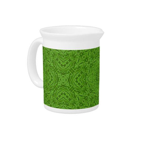 Gehender grüner bunter Krug