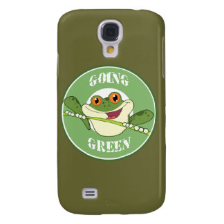 Gehender grüner Frosch iPhone 3G Kasten Galaxy S4 Hülle