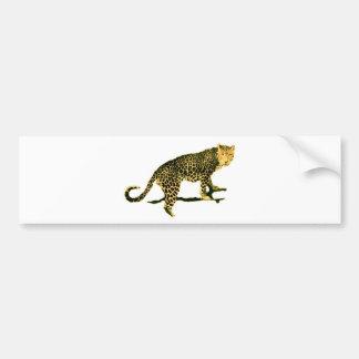 Gehender Leopard Autoaufkleber