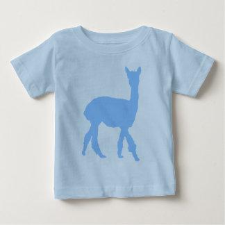Gehendes Alpaka (im Blau) Baby T-shirt