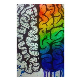 Gehirn Druckpapier