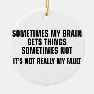 Gehirn erhält Sachen Keramik Ornament