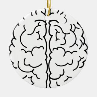Gehirn-Kunst Keramik Ornament