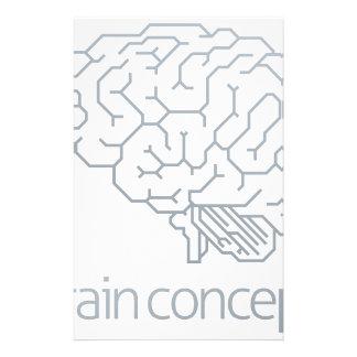 Gehirn-Profil-Konzept Individuelles Druckpapier