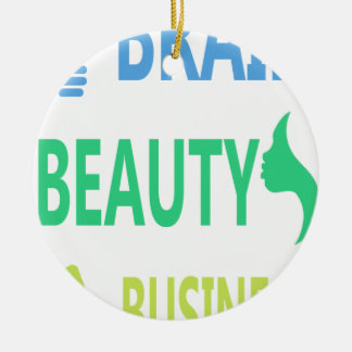 Gehirn-Schönheits-Geschäft Keramik Ornament