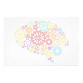 Gehirn übersetzt Briefpapier