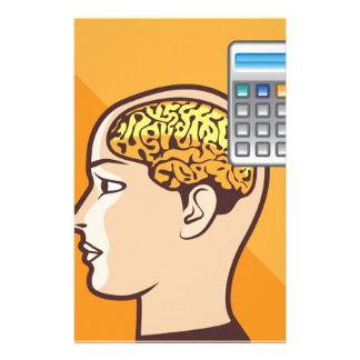 Gehirn und Taschenrechner Personalisierte Druckpapiere