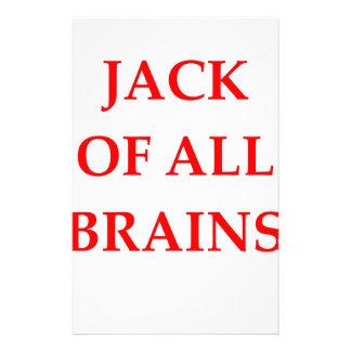 Gehirne Individuelle Büropapiere