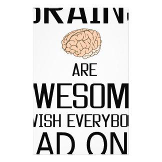 Gehirne sind fantastisch personalisiertes büropapier
