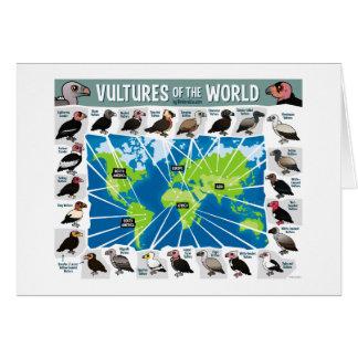 Geier der Weltkarte Karte