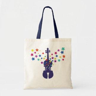 Geigen-Stern-Taschen-Tasche Budget Stoffbeutel