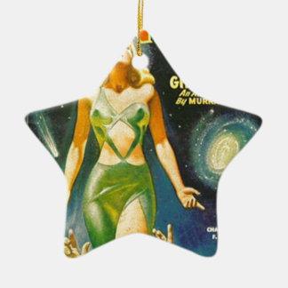 Geist-Planet Keramik Stern-Ornament