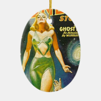 Geist-Planet Ovales Keramik Ornament
