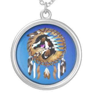 Geistige Pferdehalskette Halskette Mit Rundem Anhänger