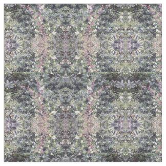 Gekämmtes Baumwollgewebe - Clematis-Blumen-Fraktal Stoff