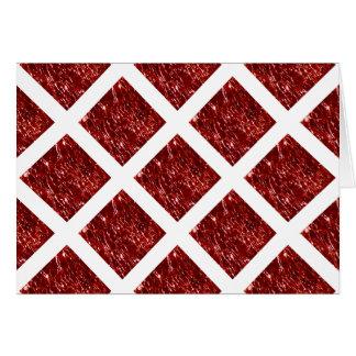 Geknisterter GlasBirthstone Januar Rot-Granat Karte