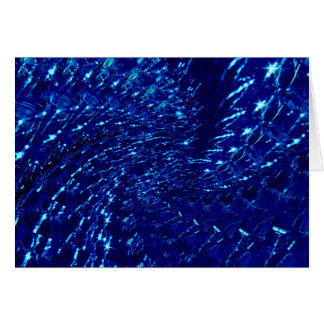Geknisterter Glasstrudel-Entwurf - blauer Saphir Karte