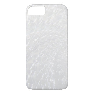 Geknisterter Glasstrudel-Entwurf - Perle/Mondstein iPhone 8/7 Hülle