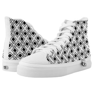 Gekritzelmuster Hoch-geschnittene Sneaker