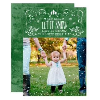 Gelassen ihm innerhalb des Grundes schneien - 12,7 X 17,8 Cm Einladungskarte