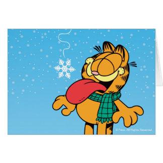 Gelassen ihm schneien! mitteilungskarte