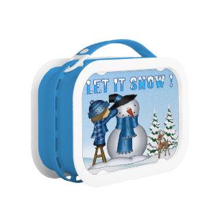 Gelassen ihm schneien Snowman-Mittagessenkasten Brotdose