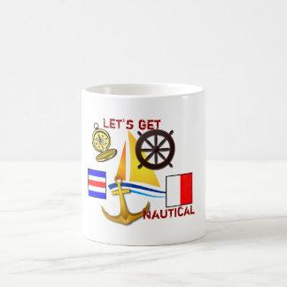 Gelassen uns erhalten Sie - Kaffeetasse nautisch