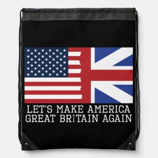 Gelassen uns lassen Sie Amerika Großbritannien Turnbeutel