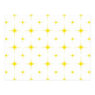 Gelb des Stern-6 Postkarte
