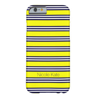 Gelb mit blauem Streifen Barely There iPhone 6 Hülle