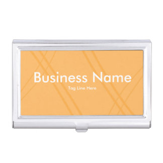 Gelb-orangees Crissed gekreuzt Visitenkarten-Behälter