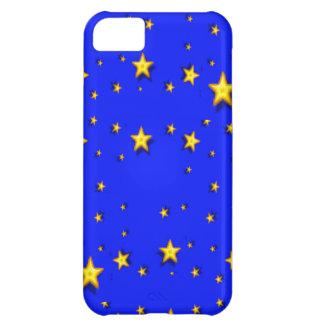Gelb-Sterne auf Blau iPhone 5C Hülle