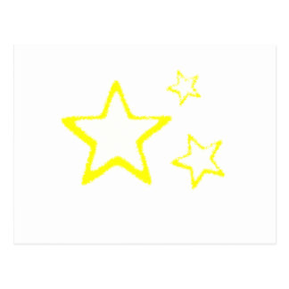Gelb-Sterne Postkarte
