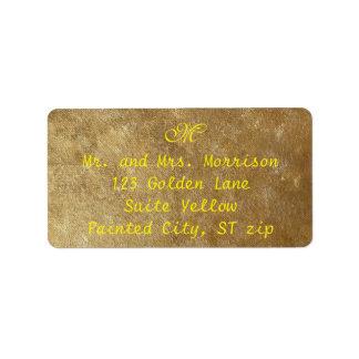 Gelb und Gold gemischte Adressaufkleber