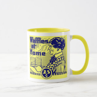 """Gelb """"WAFFLES"""" Kaffee-Tasse Tasse"""