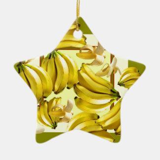 gelbe Bananen Keramik Ornament